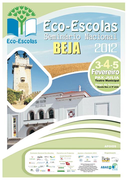 cartaz do seminário Eco-Escolas 2012