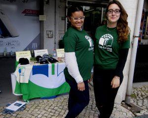 As estagiárias da EPED - Escola Profissional de Educação para o Desenvolvimento: Eva e Cláudia